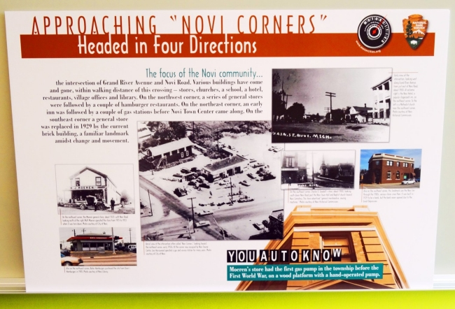 "Mortorcities Marker - Approaching ""Novi Corners"" - Headed in Four Directions"
